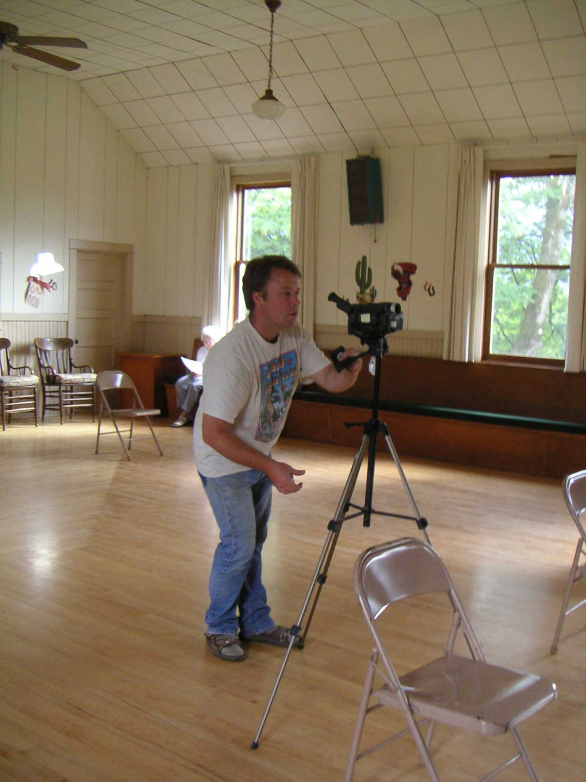 videographer in main hall